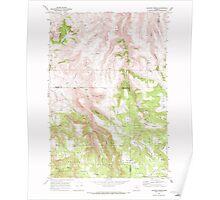 USGS Topo Map Oregon Lefevre Prairie 280498 1969 24000 Poster