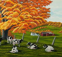 Fall On The Farm by Charlotte  Blanchard