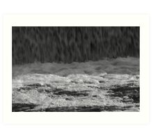 Water flowing from the dam Art Print