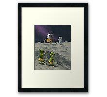 moon catapult Framed Print