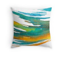Abstract Watercolor Brush Throw Pillow
