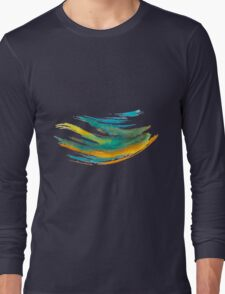 Abstract Watercolor Brush Long Sleeve T-Shirt