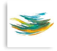 Abstract Watercolor Brush Canvas Print