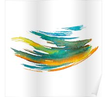 Abstract Watercolor Brush Poster