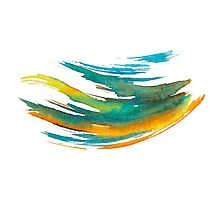 Abstract Watercolor Brush Photographic Print