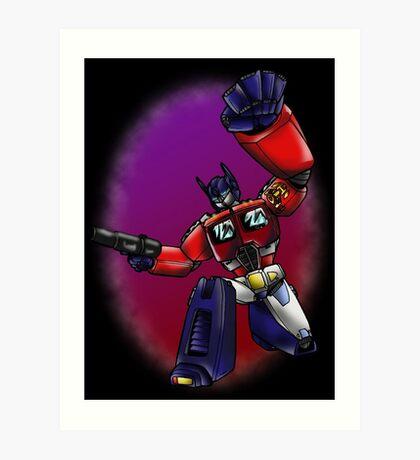 Transformers: Optimus Prime Art Print