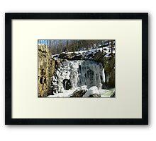 Kilgore Falls_Winter 2011 Framed Print