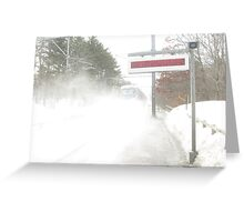 Snow Acela Part 2 Greeting Card