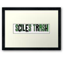 Sciles Trash Framed Print