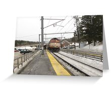 1057 MBTA Commuter Rail Greeting Card