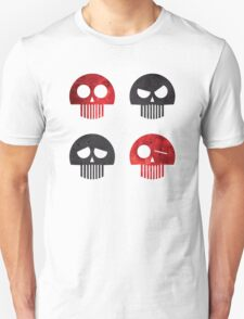 Halloween Four Skull - Red and Black Unisex T-Shirt