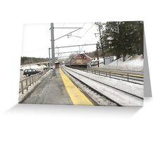 1054 MBTA Commuter Rail (Inbound) Greeting Card