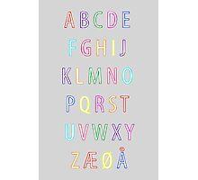 Alphabet I Photographic Print