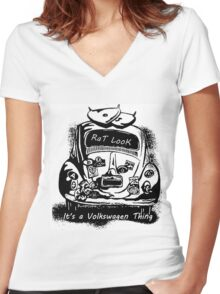 Its a VW Thing Women's Fitted V-Neck T-Shirt
