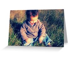 tell me your dreams, little boy Greeting Card