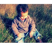 tell me your dreams, little boy Photographic Print