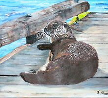 Millie the River Otter by Teresa Dominici