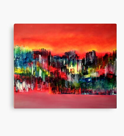 City of colours and lights Canvas Print
