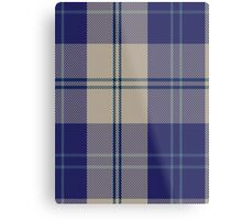 00427 Alisa Royal Blue Tartan  Metal Print