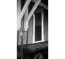 Train Depot and Telegraph Office. Photographic Print