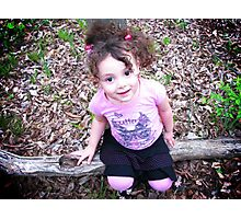 Full of curls and smiles Photographic Print