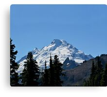 Snow Cap on The Mountain Canvas Print
