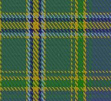 00428 All Ireland Blue District Tartan  Sticker