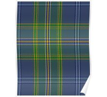 00428 All Ireland Blue District Tartan  Poster