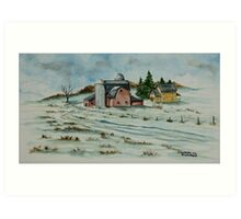 Winter Down On The Farm Art Print