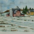 Winter Down On The Farm by Charlotte  Blanchard