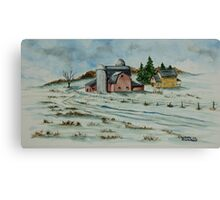 Winter Down On The Farm Canvas Print