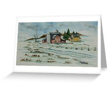 Winter Down On The Farm Greeting Card