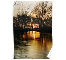 Sunset On The River Stour Poster