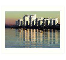 Riverside Apartments Art Print