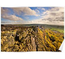 The Roaches Peak District Poster