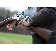 Gun in action Photographic Print