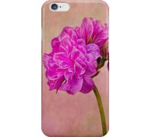 Geranium portrait iPhone Case/Skin