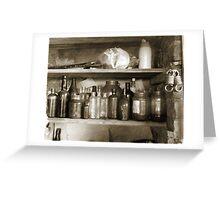 Ye Old Bottles Greeting Card