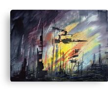 Abstract Cityscape Canvas Print