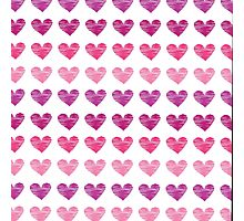 Pink heart pattern, ink sketch Photographic Print