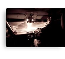 Driving down the highway of light Canvas Print