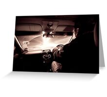 Driving down the highway of light Greeting Card
