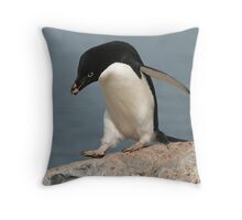 Adelie penguin 2 Throw Pillow