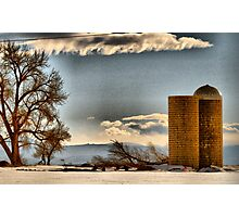 Snow Across the Prairies Photographic Print