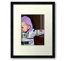 Buzz Lightyear Dodging the Paparazzi Framed Print