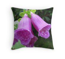 Foxglove (Digitalis purpurea) - Killarney, Ireland Throw Pillow