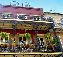 Balcony Living In the French Quarters by Wanda Raines