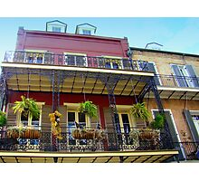 Balcony Living In the French Quarters Photographic Print