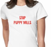 Stop Puppy Mills (Red Logo) Womens Fitted T-Shirt