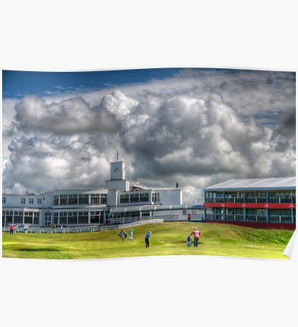 Clouds over Birkdale Clubhouse  Poster